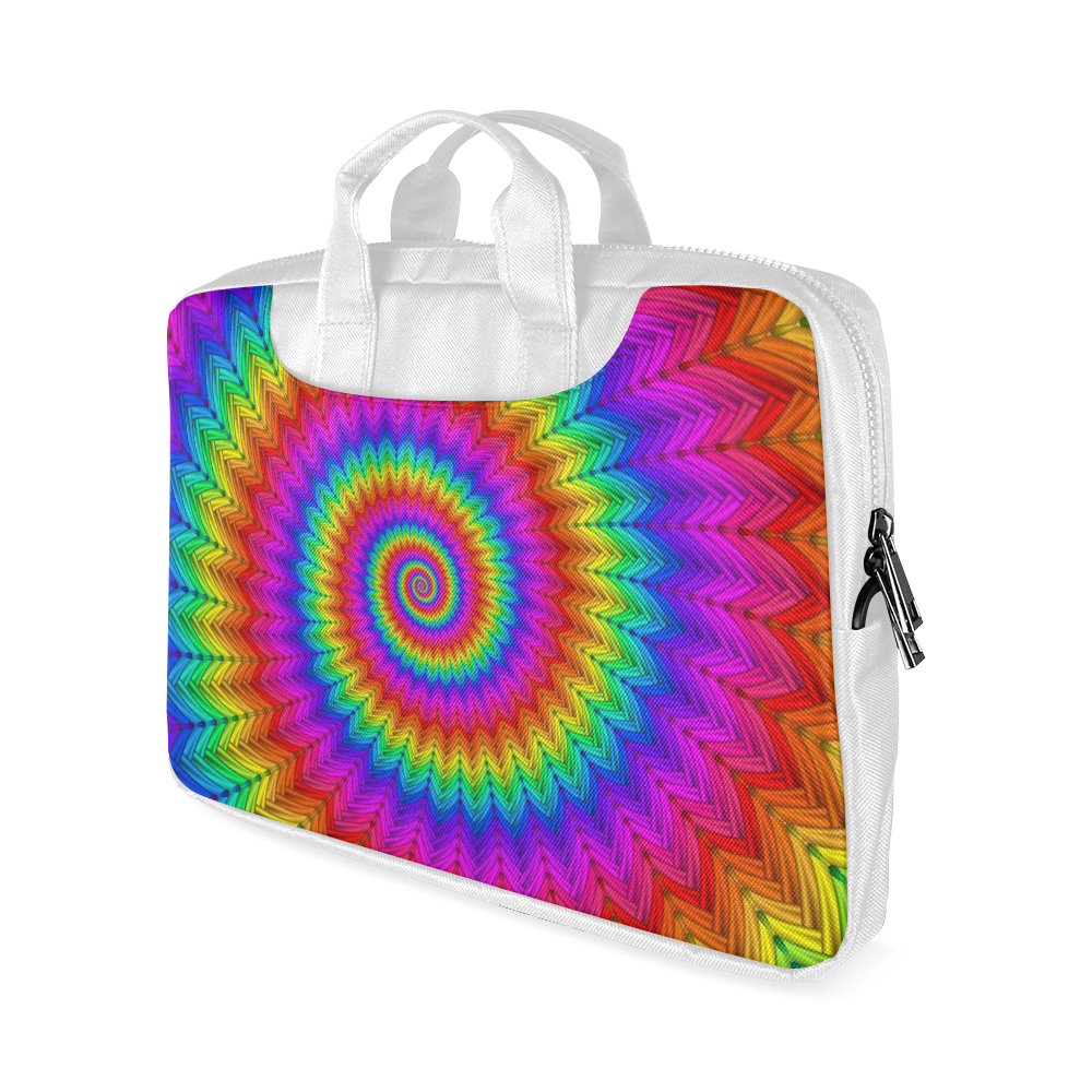 """Psychedelic Rainbow Spiral Macbook Air 11""""(Twin sides)"""