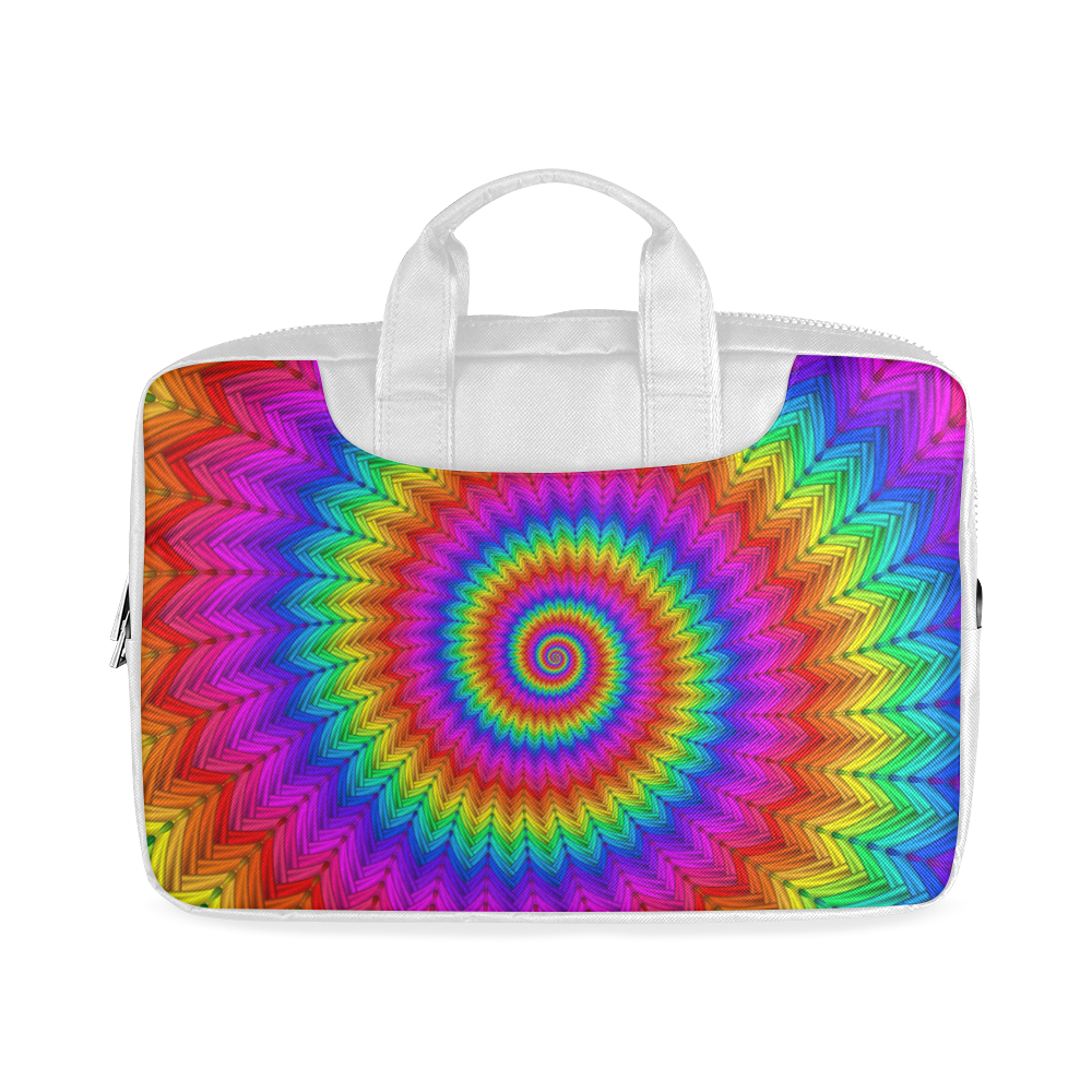 """Psychedelic Rainbow Spiral Macbook Air 13""""(Twin sides)"""