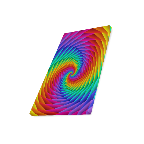 """Psychedelic Rainbow Spiral Canvas Print 16""""x20"""""""