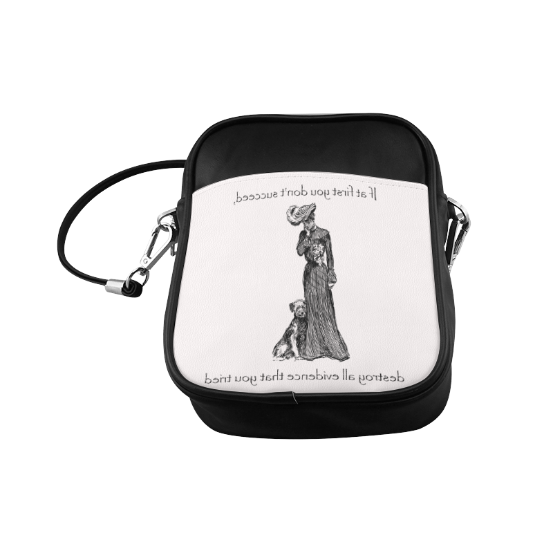 Funny Attitude Vintage Sass If At First You Don't Succeed, Hide All Evidence That You Tried. Sling Bag (Model 1627)
