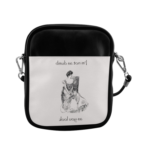 Funny Attitude Vintage Sass I'm Not As Dumb As You Look Sling Bag (Model 1627)