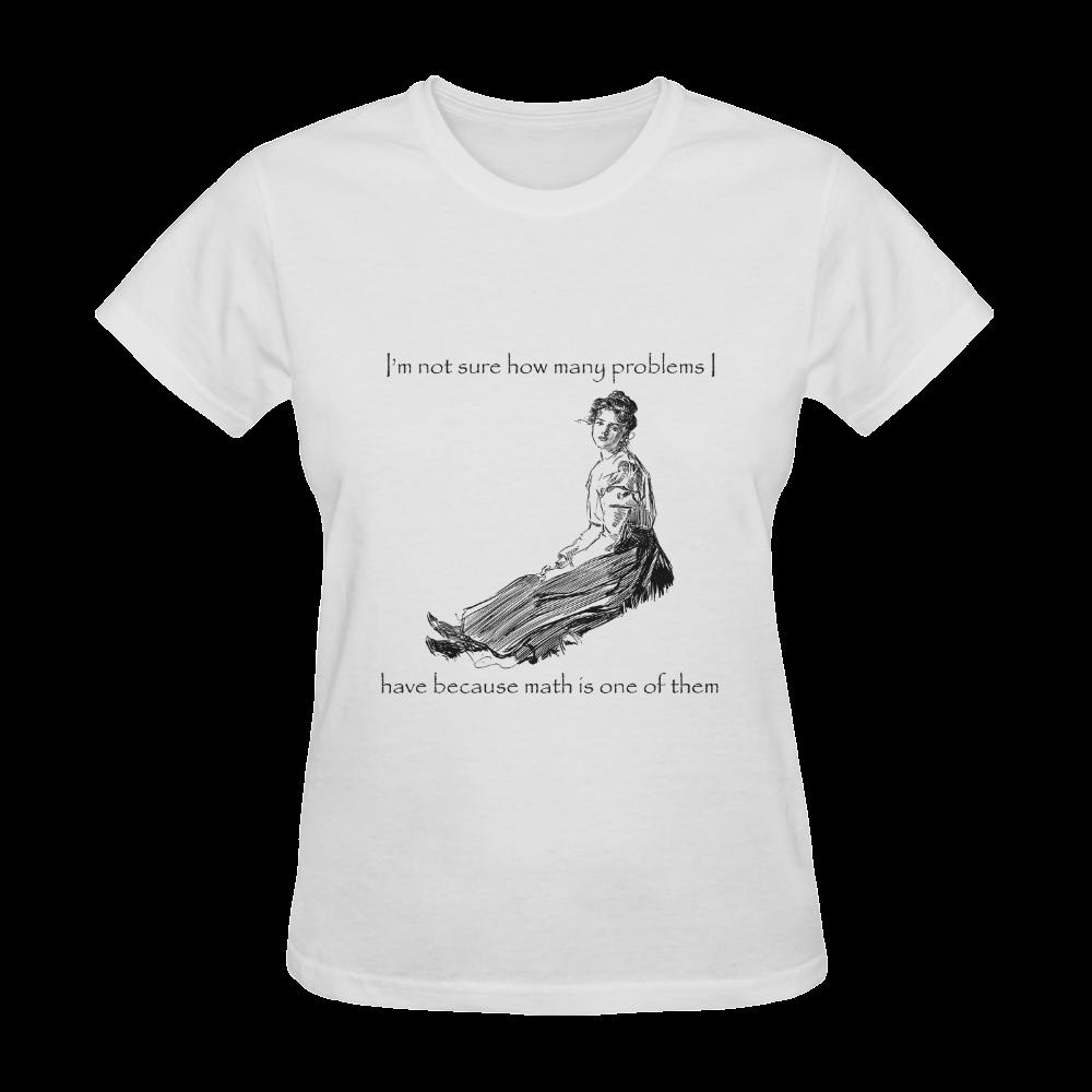 Funny Attitude Vintage Sass Problems Math Sunny Women's T-shirt (Model T05)