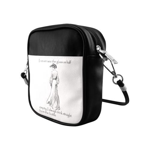 Funny Attitude Vintage Sass I Drink Straight From The Bottle Sling Bag (Model 1627)