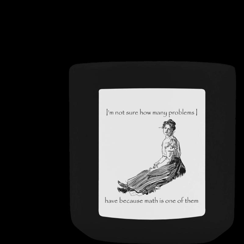Funny Attitude Vintage Sass Problems Math White Mug(11OZ)