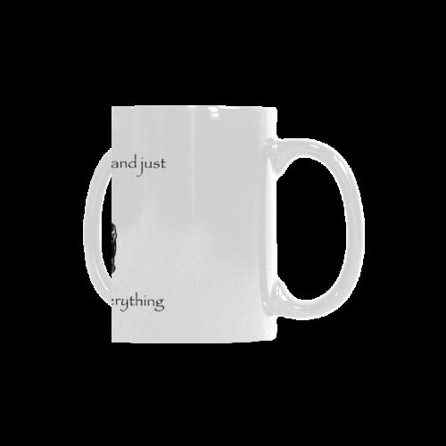 Funny Attitude Vintage Sass Let's Save Time Aussume I Know Everything White Mug(11OZ)