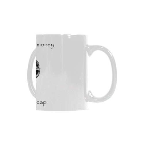 Funny Attitude Vintage Sass It Costs A Lot Of Money To Look This Cheap White Mug(11OZ)