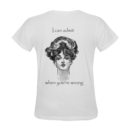 Funny Attitude Vintage Sass I Can Admit When You're Wrong Sunny Women's T-shirt (Model T05)