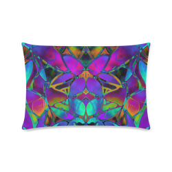 "Floral Fractal Art G308 Custom Zippered Pillow Case 16""x24""(Twin Sides)"