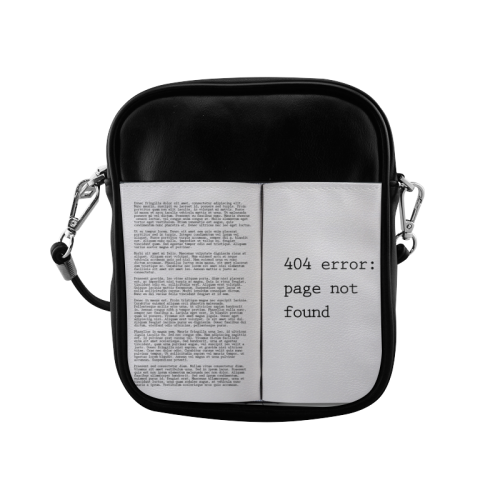 Funny Book Error 404 Page Not Found Geek Sling Bag (Model 1627)