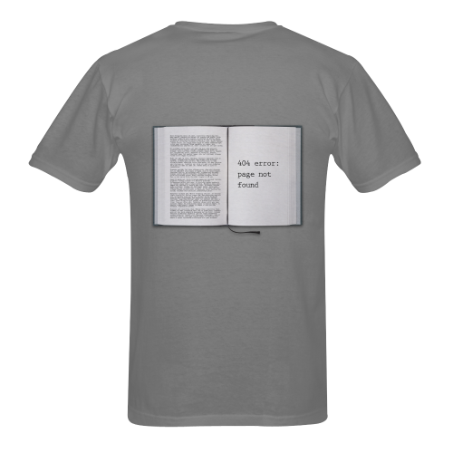 Funny Book Error 404 Page Not Found Geek Sunny Men's T- shirt (Model T06)