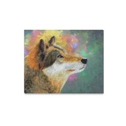 "Portrait of the Wolf Canvas Print 20""x16"""