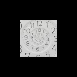 "Spiral Clock Droste Canvas Print 6""x6"""