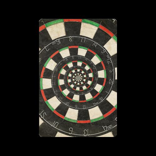 "Spiral Dart Board Droste Effect Doormat 24"" x 16"""