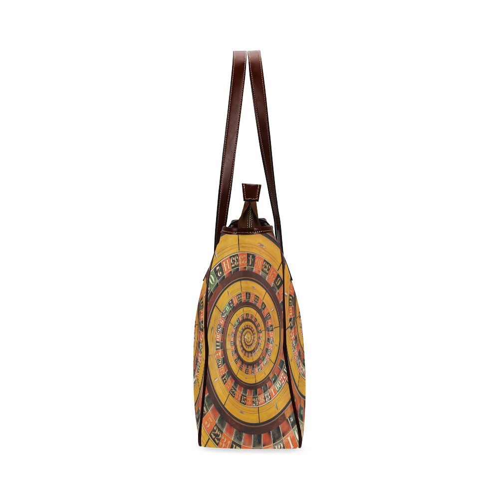 Spiral Roulette Wheel Droste Classic Tote Bag (Model 1644)