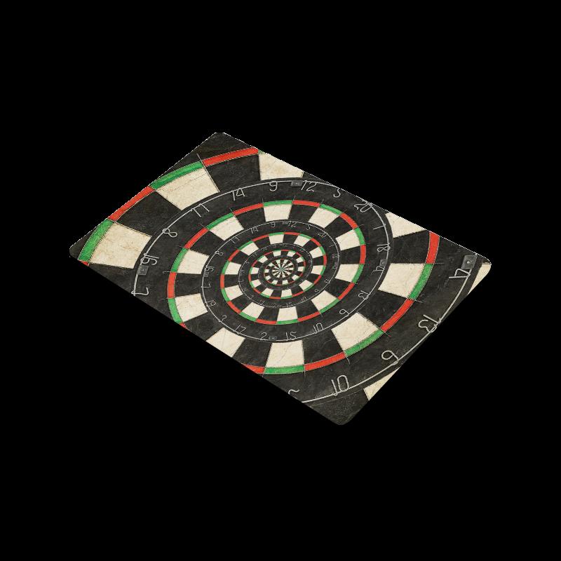 "Spiral Dart Board Droste Effect Doormat 30""x18"""