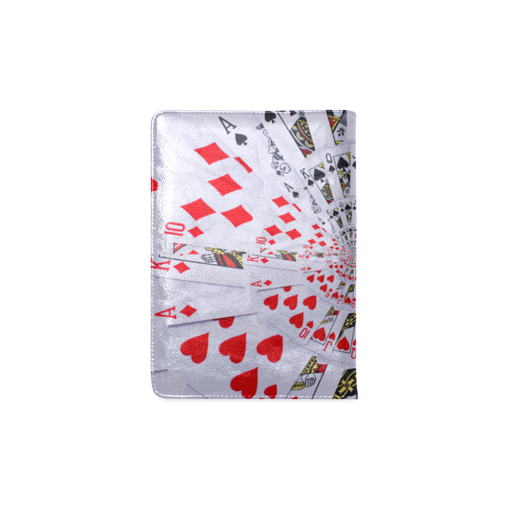 Poker Royal Flush All Suits Droste Spiral Custom NoteBook A5