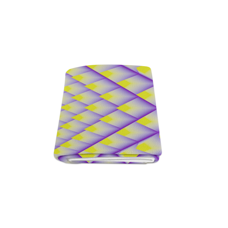 """Yellow and Purple 3D Pyramids Pattern Blanket 50""""x60"""""""