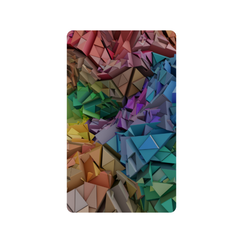 """Colorful Abstract 3D Low Poly Geometric Doormat 30""""x18"""""""