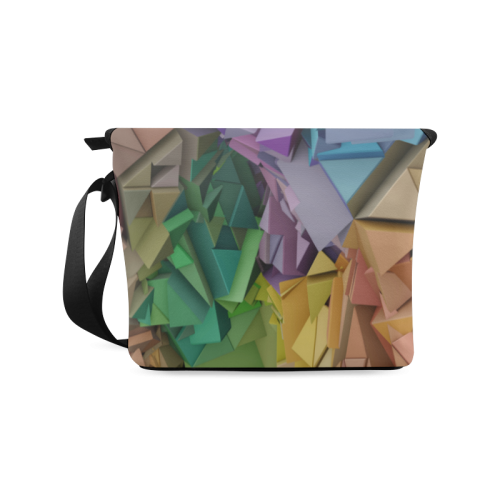 Colorful Abstract 3D Low Poly Geometric Crossbody Bag (Model 1631)