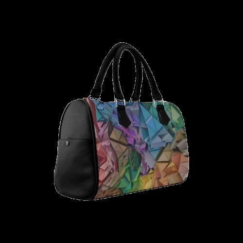 Colorful Abstract 3D Low Poly Geometric Boston Handbag (Model 1621)