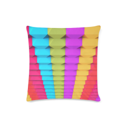 "Colorful 3D Geometric Blocks Custom Zippered Pillow Case 16""x16"" (one side)"