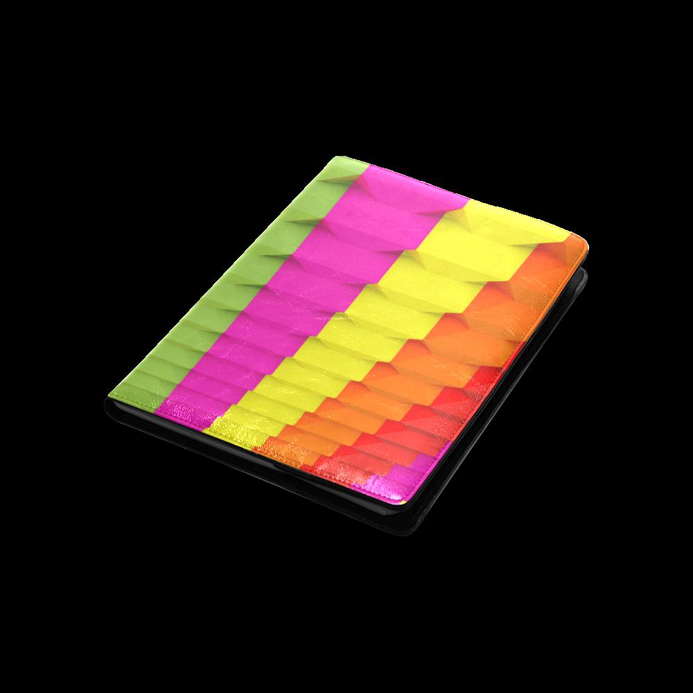 Colorful 3D Geometric Blocks Custom NoteBook B5