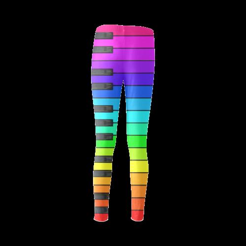 Rainbow Keyboard Cassandra Women's Leggings (Model L01)