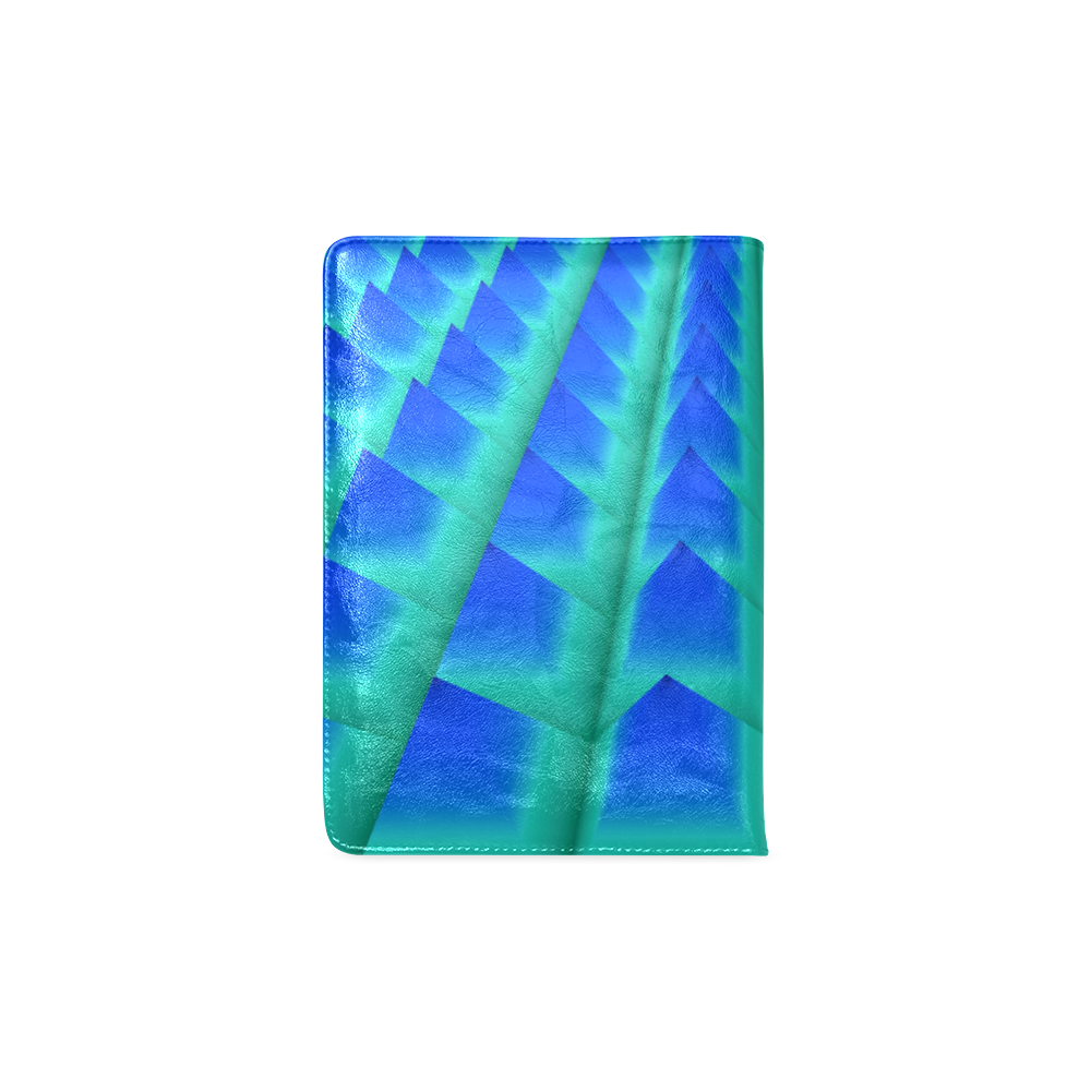 3d Abstract Blue and Green Pyramids Custom NoteBook A5