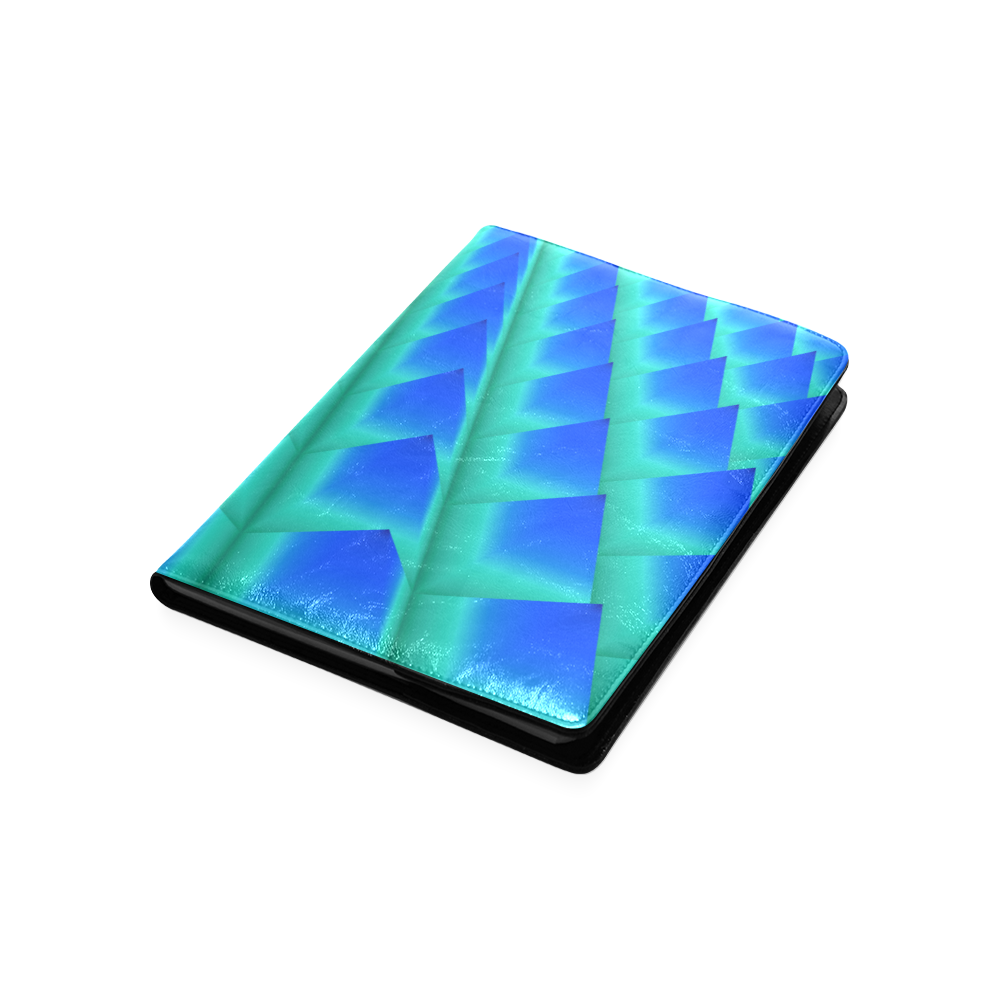 3d Abstract Blue and Green Pyramids Custom NoteBook B5