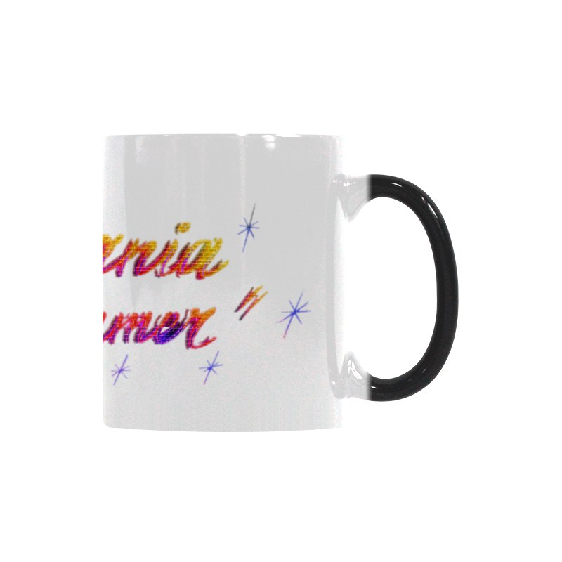 CALIFORNIA DREAMER YELLOW RED N PURPLE BRICK Custom Morphing Mug