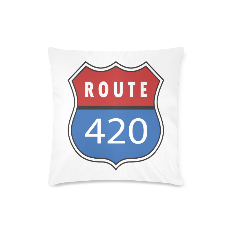 "Route 420 Custom Zippered Pillow Case 16""x16""(Twin Sides)"