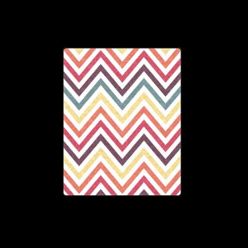 "Colorful Modern Chevron Blanket 40""x50"""