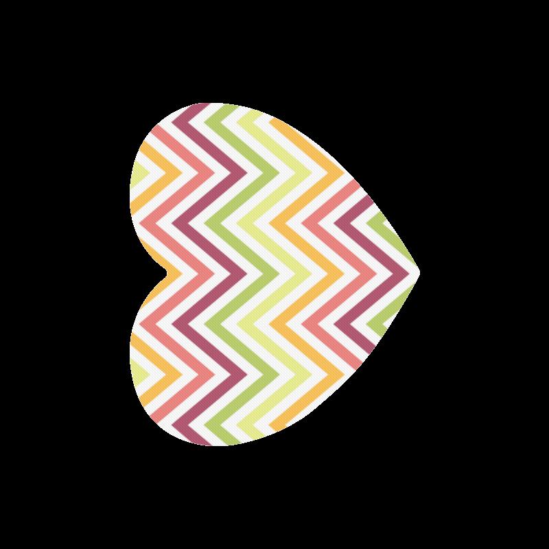Modern Trendy Chevron Heart-shaped Mousepad