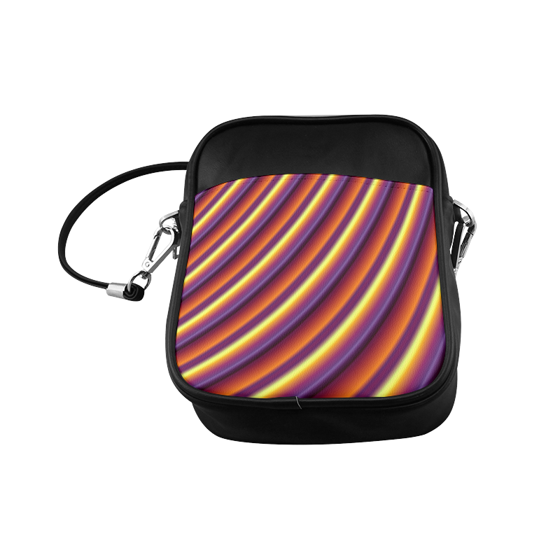 Glossy Colorful Gradient Stripes Sling Bag (Model 1627)