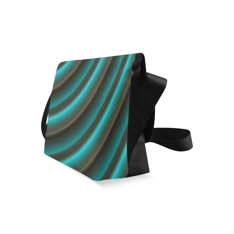 Glossy Green Gradient Stripes Crossbody Bag (Model 1631)