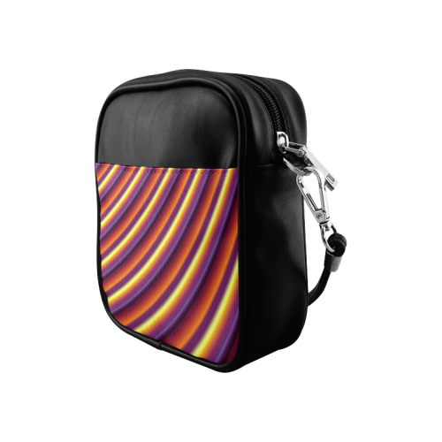 Glossy Colorful Gradient Stripes Sling Bag (Model 1627)