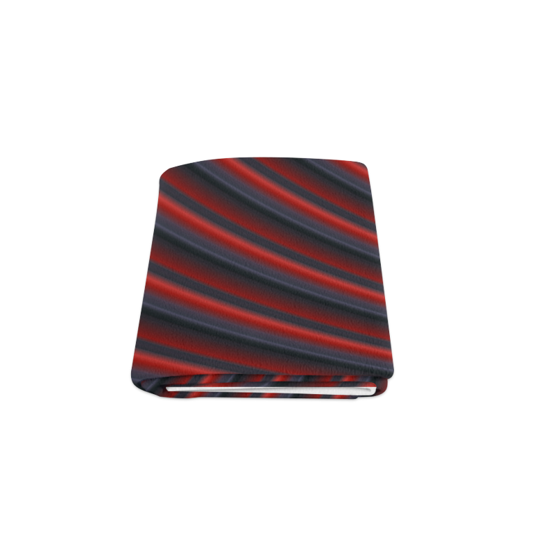 "Glossy Red Gradient Stripes Blanket 50""x60"""