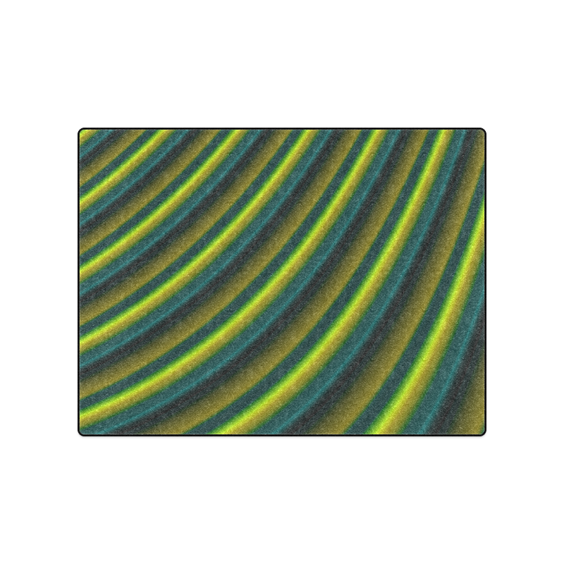 """Glossy Lime Green Gradient Stripes Blanket 50""""x60"""""""