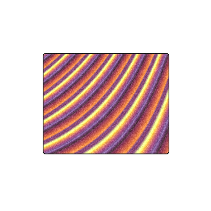 """Glossy Colorful Gradient Stripes Blanket 40""""x50"""""""