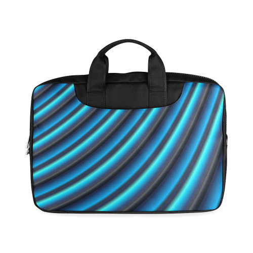 """Glossy Blue Gradient Stripes Macbook Air 13""""(Twin sides)"""