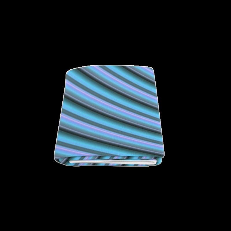 "Glossy Light Blue Gradient Stripes Blanket 50""x60"""