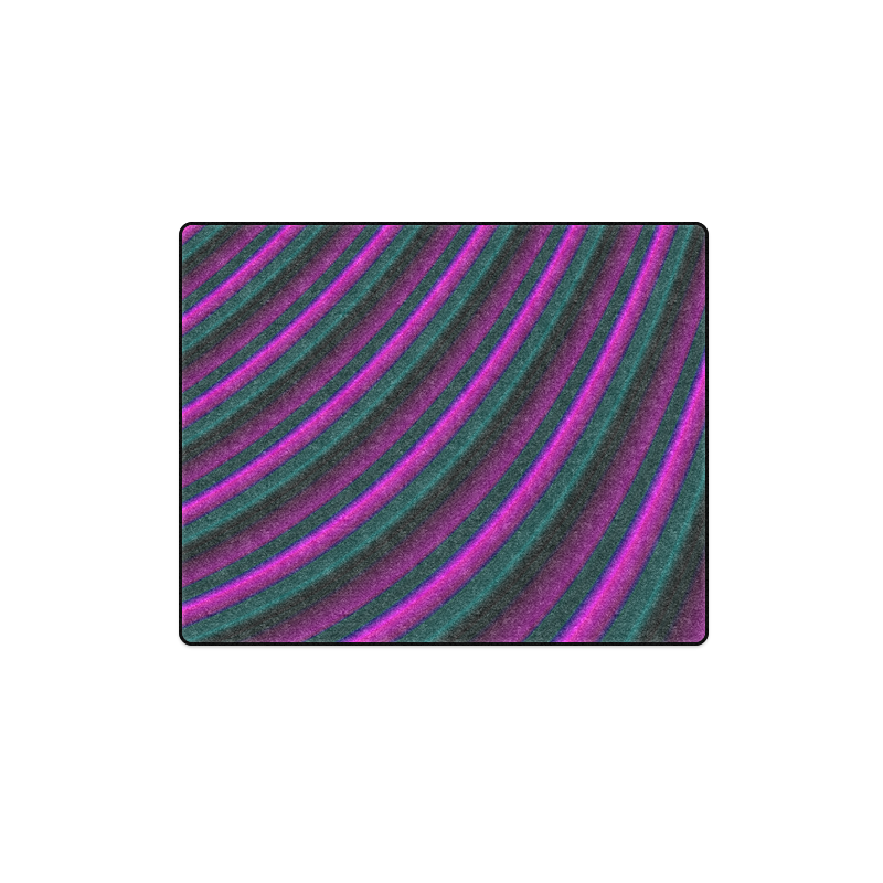 "Glossy Purple Gradient Stripes Blanket 40""x50"""