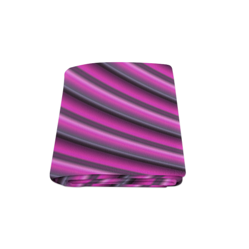 "Glossy Pink Gradient Stripes Blanket 58""x80"""