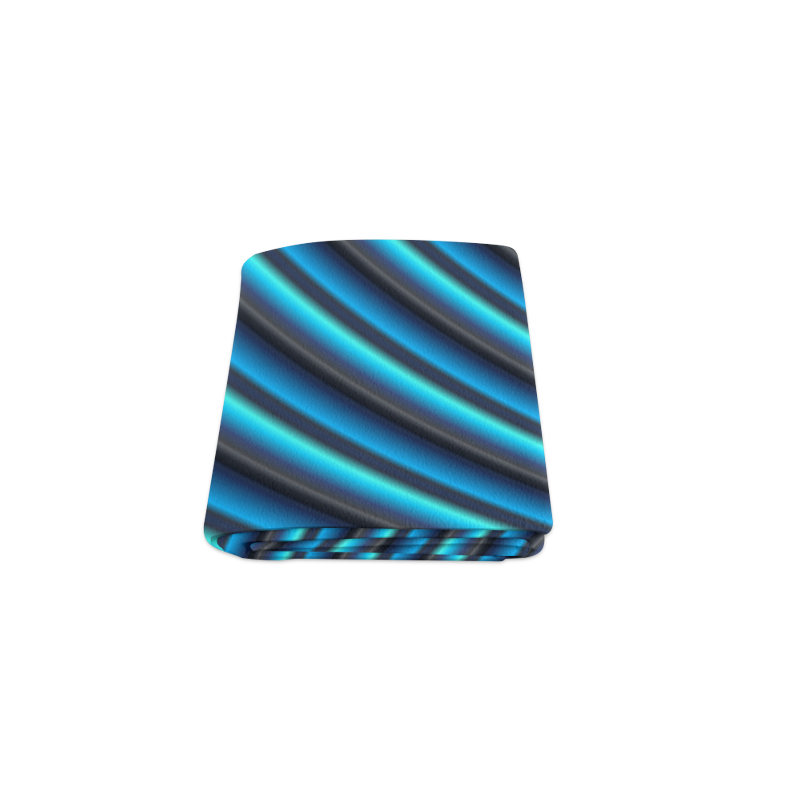 "Glossy Blue Gradient Stripes Blanket 40""x50"""