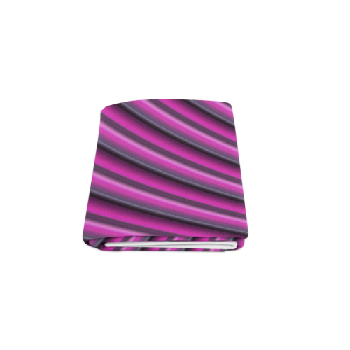 "Glossy Pink Gradient Stripes Blanket 50""x60"""