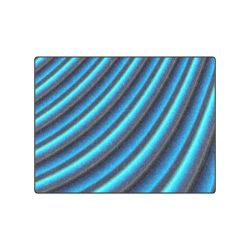 "Glossy Blue Gradient Stripes Blanket 50""x60"""
