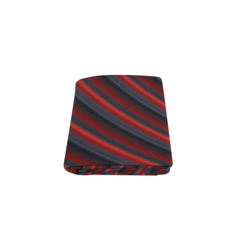 """Glossy Red Gradient Stripes Blanket 40""""x50"""""""