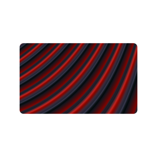"Glossy Red Gradient Stripes Doormat 30""x18"""