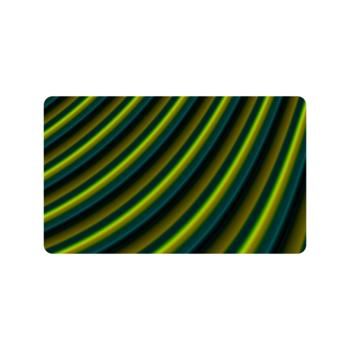 "Glossy Lime Green Gradient Stripes Doormat 30""x18"""