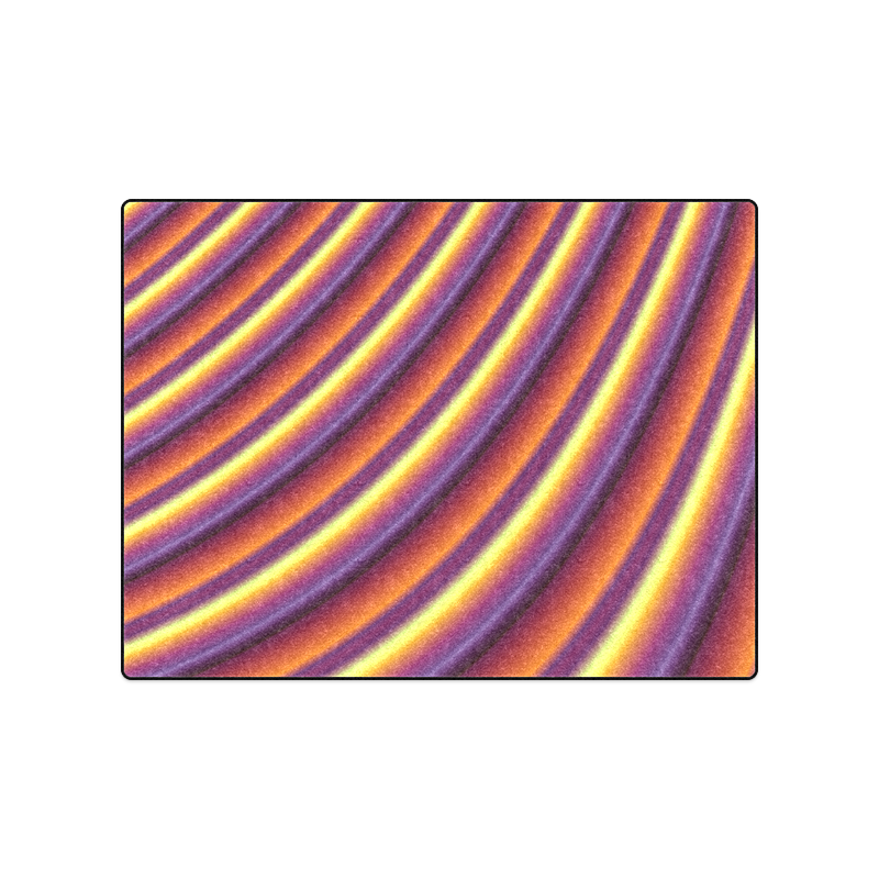 """Glossy Colorful Gradient Stripes Blanket 50""""x60"""""""